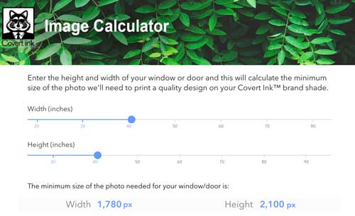 Calculate the Size of Your Image