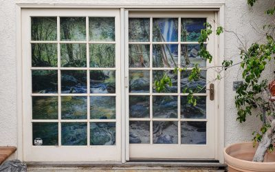 Residence – Shades for Library Doors Next to Outdoor Spa